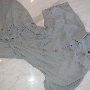 Roolee Dresses - ROOLEE Jefferson Linen Midi shirtdress